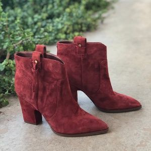 Sam Edelman Niomi Paprika Suede Booties Boots